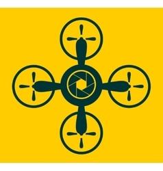 Drone quadrocopter icon Aperture symbol vector
