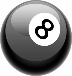 eight ball illustration vector image
