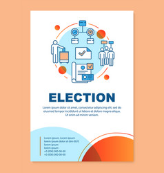 Election brochure template layout holding vector