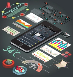 Elements of infographics flat design vector image