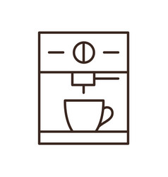Espresso machine isolated linear icon vector
