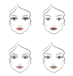 Evening make up vector
