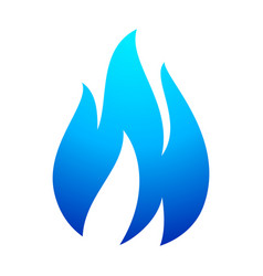 fire flame blue icon vector image