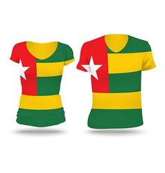 Flag shirt design of togo vector
