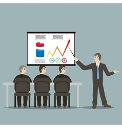 flat design style cartoon meeting businessman vector image