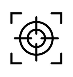Focus icon black and white vector