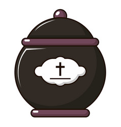 Funeral urn icon cartoon style vector