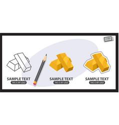 gold bars logo vector image