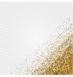golden glitter abstract corner background tinsel vector image