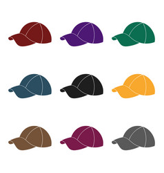 golf cap icon in black style isolated on white vector image