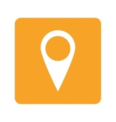 gps pin icon vector image