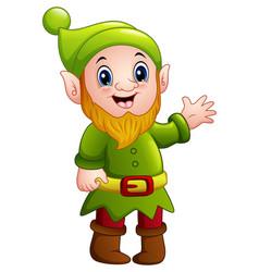 green dwarf cartoon waving vector image