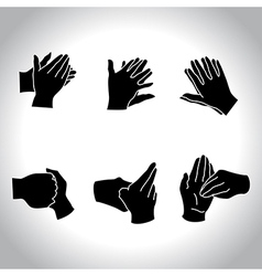 hands black vector image