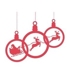happy merry christmas santa claus card vector image