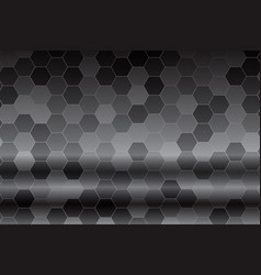 hexagon light patterns isolated on black white vector image