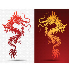 Hinese dragon vector