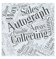 How To Do Autograph Collecting The Inexpensive Way vector image