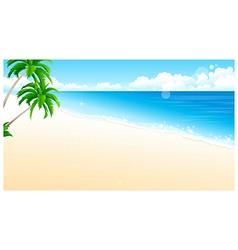 Idyllic Beach Palm Tree vector