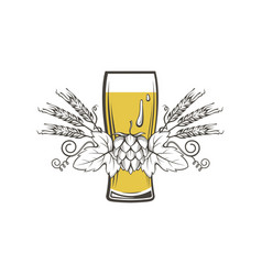 image of beer glass vector image
