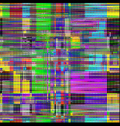 Image with imitation of grunge datamoshing vector