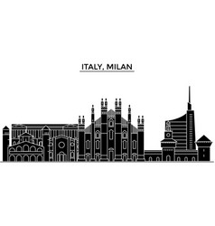 Italy milan architecture city skyline vector