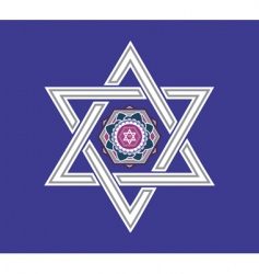 Jewish star design vector vector