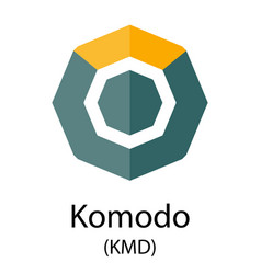 komodo cryptocurrency symbol vector image