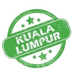Kuala Lumpur green stamp vector