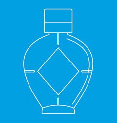Light bottle of female perfume icon vector