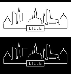 lille skyline linear style editable file vector image