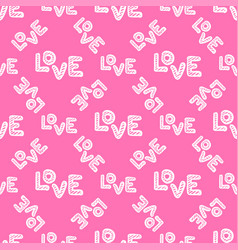 love seamless pattern happy valentines day vector image