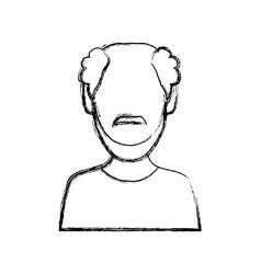 man faceless avatar vector image