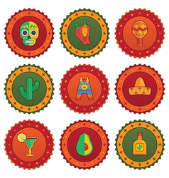 Mexican badges vector