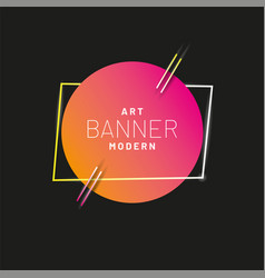 modern style abstract banner with bright neon vector image