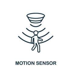 Motion sensor outline icon thin line style from vector