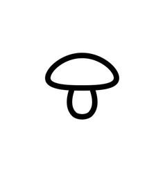 mushroom vegetable icon vector image