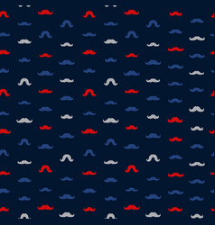 Mustache seamless pattern november holiday vector
