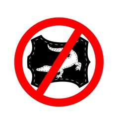 No crocodile leather vector