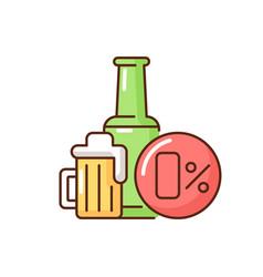 Non alcoholic beer rgb color icon vector