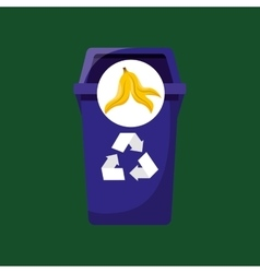 Organic trash prohibited graphic vector