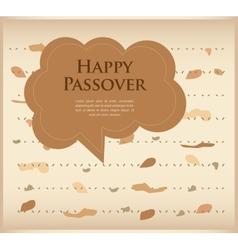 Passover invitation matzoh jewish bread with vector