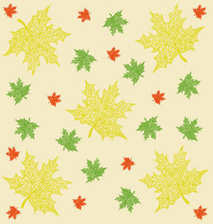 pattern of maple leaves vector image