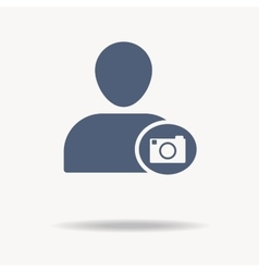 People Icon - photographer etc Flat icon One of vector