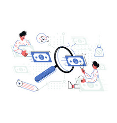 people searching money vector image