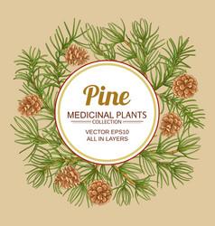 pine frame vector image