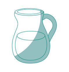 Pitcher water icon vector