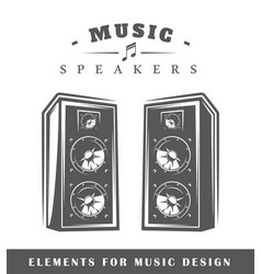 Professional music speaker vector