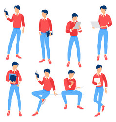 ready to animation people vector image