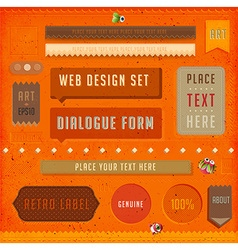 Retro banner design vector