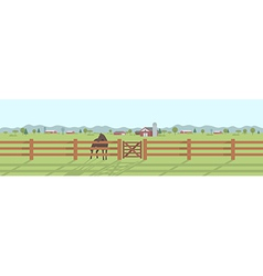 Rural landscape panorama vector image
